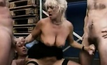 Nasty European Grandma In A Gang Bang