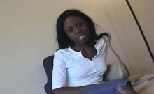 interracial pov audition with black babe