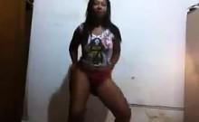 Brazilian Shaking Her Ass In A Thong