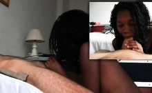 African girl sucking her own juices