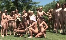 Public masturbation and public group nudity