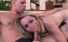 Shemale Sabrina have anal sex at home