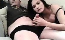 Asian Slut Giving Her Boyfriend Head