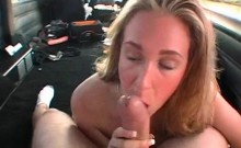 Blonde amateur enjoys fingering and giving BJ