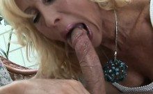 Sexy Mature Blonde Gobbles Young Cock And Fucked