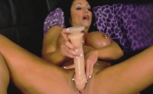 Busty Muscular Milf Fucks Pussy And Ass With Dildos