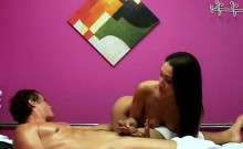 Pretty Masseuse Vicki Chase Blows Client For Money