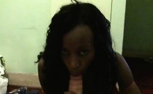 ebony girl dick sucking in the bathroom