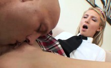 Young blonde rides on a cock