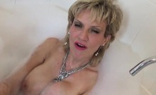 Unfaithful English Milf Lady Sonia Exposes Her Large Puppies