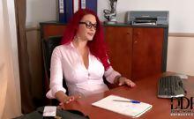 Paige Licks Her Pierced Nipple