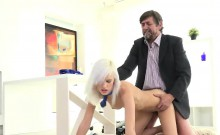 Pretty schoolgirl gets seduced and fucked by her older teach