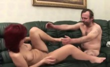Redhead Cougar Caring For Handicapped By Fucking