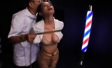 Big tit Asian babe is tied up and tortured by the guy who c