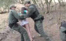 Brunette Teen Fucking Officer Doggy Style In Car