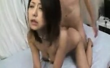 Asian hottie sucks a dick before getting her wet hole pound
