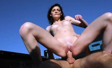 Jessica Rex hitchhikes and fucked hard by pervert stranger