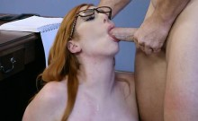 Sexy Intern Lauren Phillips Gets Nailed And Facialized