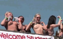 College Babes Flashing On The Beach During Spring Break