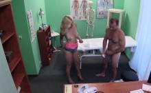 Doctor bangs natural busty blonde