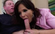 Hot MILF Syren De Mer grabs cock and takes an anal ride
