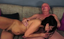 Hairy Teen Fucked And Jizzed On By Grandpa