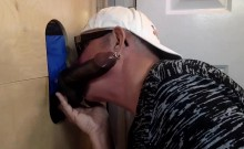 Swallowing Big Black Meat At The Gloryhole