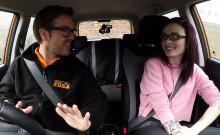 Fake driving instructor anal bangs babe