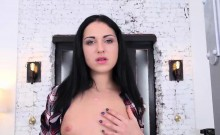 Black haired beauty craves for a thick tool in her juicy ass