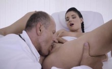 Brunette babe Lucie Denville gets fucked and squirts