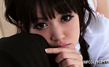 Japanese school hottie giving big boner in POV style