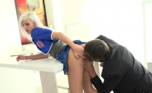 Innocent Schoolgirl Is Teased And Penetrated By Her Senior M