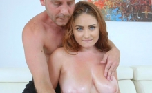 Pretty Honey Gets Her Hairy Twat Fucked And Big Tits Sprayed