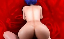 Animated with round butt fucking