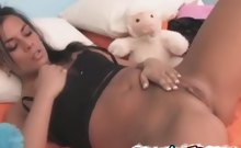Sensual french gf spreading her fuck holes wide