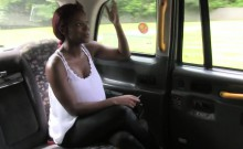 Huge dick interracial fucking in fake taxi in public