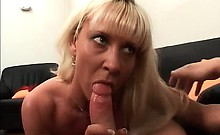 Astonishing blonde mature slut with big tits and perfect