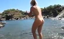 Naked Girl At The Beach