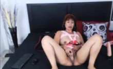 Hot Horny MILF with dildo in pussy on webcam