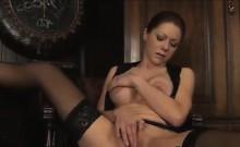 Sexy Secretary Wearing Lingerie Masturbates