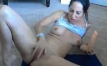 Sexy milf preforming in suspicious webcam show