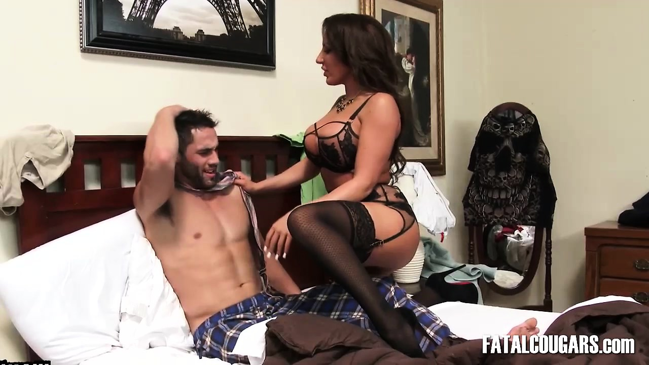 Stepson Shares Bed Stepmom
