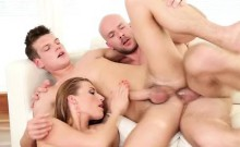Bisexual Boys Cum On Hot Female Ass!