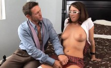 Nerdy Assistant Fucks Her Boss During Work