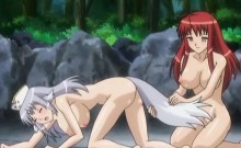 Pussy to pussy Anime chicks taking big cock