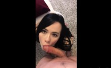 Skinny Dark Haired Babe Has Anal Fuck and a facial