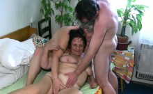 OLDNANNY senior threesome licking