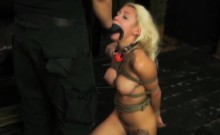 Submissive Young Blonde Marsha May Gets Tied And Face-fucked