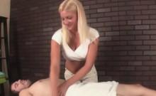 Hot blonde gives hard massages