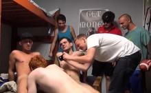 A group of horny homo boys have a fun their sex party